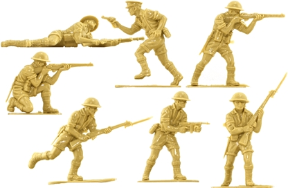 WWII British 8th Army - 14 in 7 poses no box