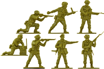 WWII British Paratroops - 14 in 5 poses no box