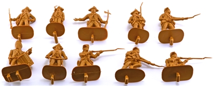 1776 British Infantry #1 - 10 in homespun brown