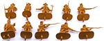 1776 British Infantry #1 - 10 in brown - low stock