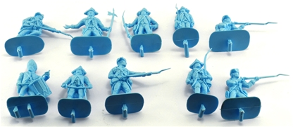 1776 British Infantry #1- 10 in sky blue low stock