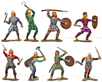 Vikings- Fully painted as Celtic Warriors