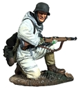 German Volksgrenadier Kneeling with K-98