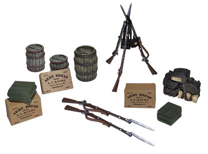 Civil War Encampment Accessory Set - PRE-ORDER