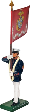 U.S.M.C. Standard Bearer w Flag Summer Dress