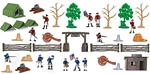 Basic Painted American Revolution Playset