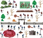 Painted American Revolution Playset - APRIL SALE!