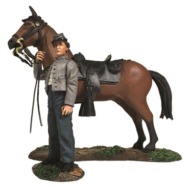 Confederate Orderly Holding Horse - PRE-ORDER