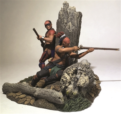 The Ambush - Native Warriors Firing