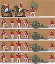 Napoleonic Artillery Battery - Painted Figures