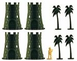 HO Castle Tower Set