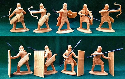 Ancient Persian Pavisiers and Archers - Sparabara