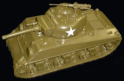 WW II U.S. Sherman Tank with white star decal