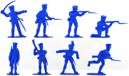 Waterloo Prussian Infantry - 8 in mid blue