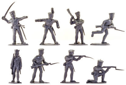 Waterloo Prussian Infantry - 20 in gray color