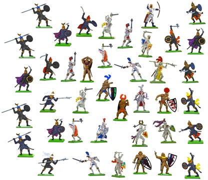 Deetail Medieval Painted Plastic Figure Collection