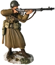 US 101st Airborne in Greatcoat Firing BAR PREORDER