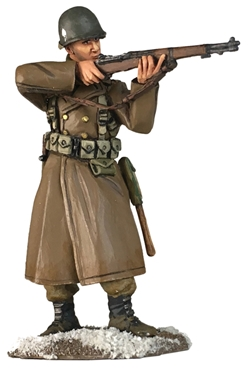 US 101st Airborne in Greatcoat Firing M-1 PREORDER