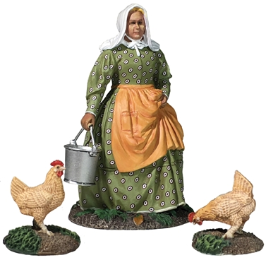Woman with Chickens, Miss Dayfield - Preorder