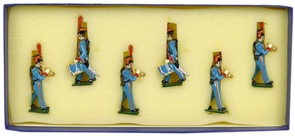 French Marine Fus of Gd Drums & Buglers - 1815