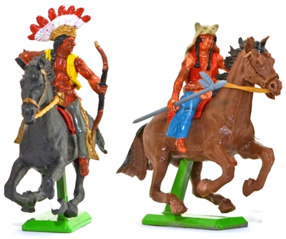 Deetail Mounted Indians