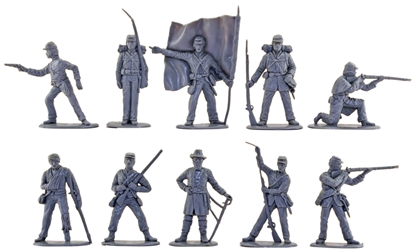 Union Infantry Set - 10 in gray color