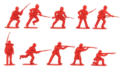 C.S.A. Infantry Set #2 - 20 in red color