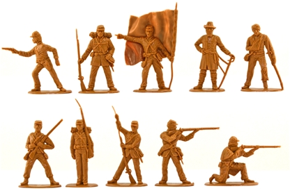 Union Infantry Set - 10 in butternut color