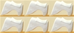 6 Recast White Saddle-Blankets