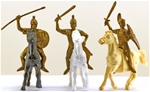 Ancient Roman Cavalry - 3 mounted figures