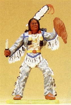 Woodland Indian Brave with Knife and Scalp