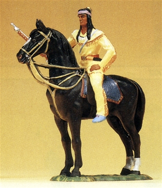 Mounted Woodland Indian with Rifle - 4 left