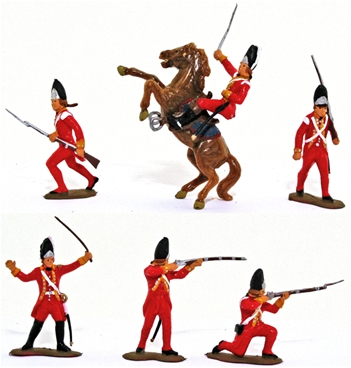 1776 British Infantry - Basic painted
