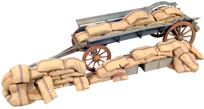 Ox Wagon Barricade with Mealy Bags