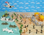 WW II Pacific Playset #3 - The Raid - OCTOBER SALE