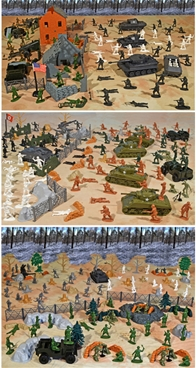 WWII Battle of the Bulge Master Playset