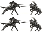 Mounted Prince Valiant Knights - black color