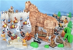 Painted Trojan War Playset  - with Free Shipping!