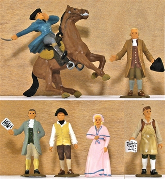 1775 Johnny Tremain Characters - Fully painted