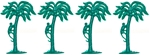Palm Trees - set of 4 in mid-green color