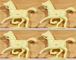 Cream Horses set of 4 - use with Timpo and Dulcop