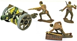 WWII Marx Japanese Artillerymen - Fully Painted