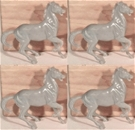 4 Ben Hur Chariot Horses - gray upright