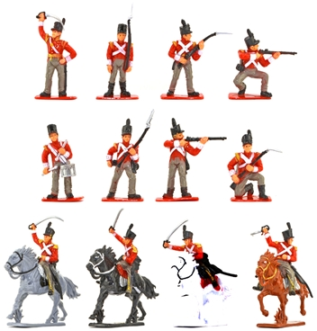1815 British Infantry and Cavalry - retired