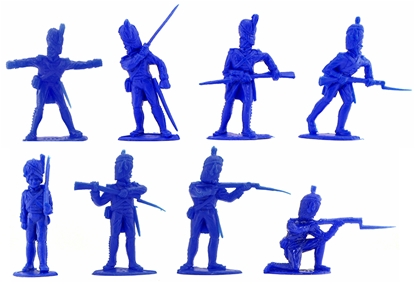 French Grenadiers  - 8 in blue - v low stock