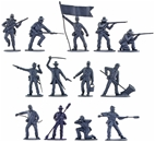 CSA Infantry Bargain Set - 9 figs mixed poses