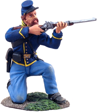 Union Cavalryman Kneeling Firing #1