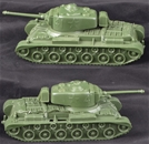 WWII US Tanks - set of 2 miscast, no wheels