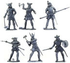Vikings - 6 in 6 pose silver color