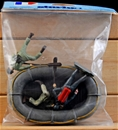 Commando Boat and 3 Man Crew - mint in bag